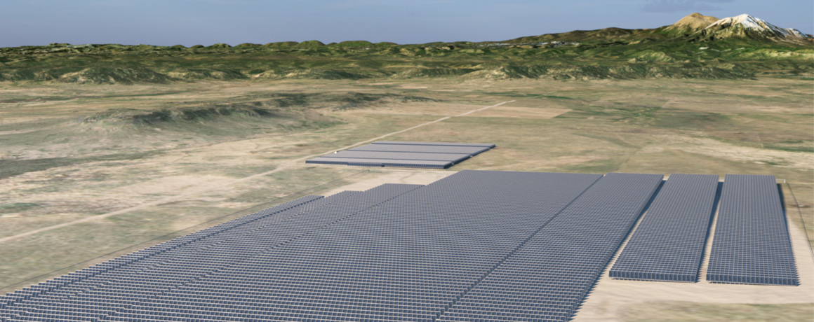 Rendering of Spanish Peaks Solar Projects