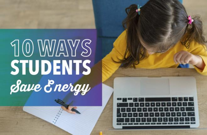 ways for kids to conserve energy at school or home